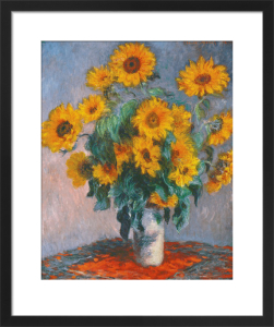 Vase of Sunflowers by Claude Monet