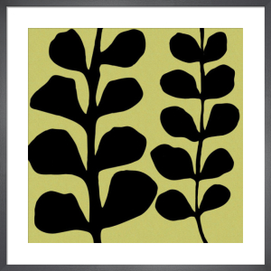 Black Fern on Green by Denise Duplock