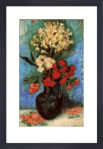 Vase with Carnations and Other Flowers, 1886 by Vincent Van Gogh