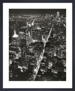 Night View of Lower Manhattan by Christopher Bliss