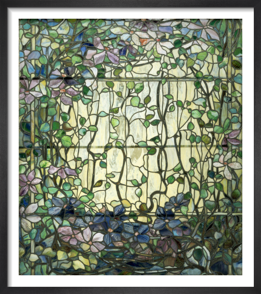 Louis Comfort Tiffany.Stained Glass With Clematis C 1900