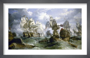 The Battle Of Trafalgar by William Stuart