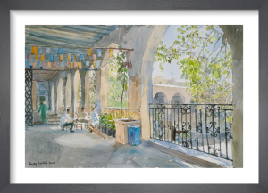 Coffee in The Khan, Damascus by Lucy Willis
