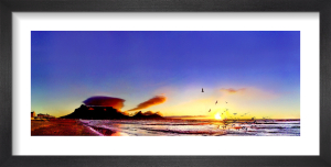 Table Mountain Sunset by Henry Reichhold