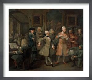A Rake's Progress II: The Levee by William Hogarth