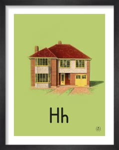 H is for house by Ladybird Books'