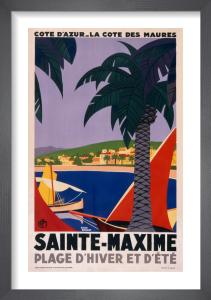 Sainte Maxime, Cote d'Azur by Roger Broders