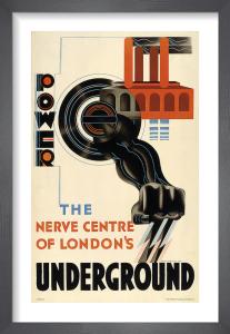Power - the nerve centre of London's Underground, 1931 by Edward McKnight Kauffer