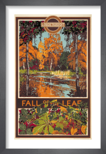 Fall of the leaf, 1933 by Walter E Spradbery