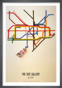 Tate Gallery by tube, 1986 by David Booth, Malcolm and Nancy Fowler (Fine White Line)