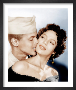 Harry Belafonte and Dorothy Dandridge (Carmen Jones) 1954 by Hollywood Photo Archive