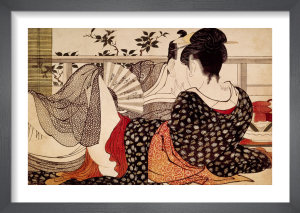 Lovers in an upstairs room by Kitagawa Utamaro
