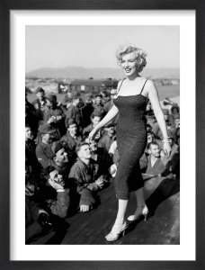 Marilyn Monroe - USO Tour, Korea by Hollywood Photo Archive