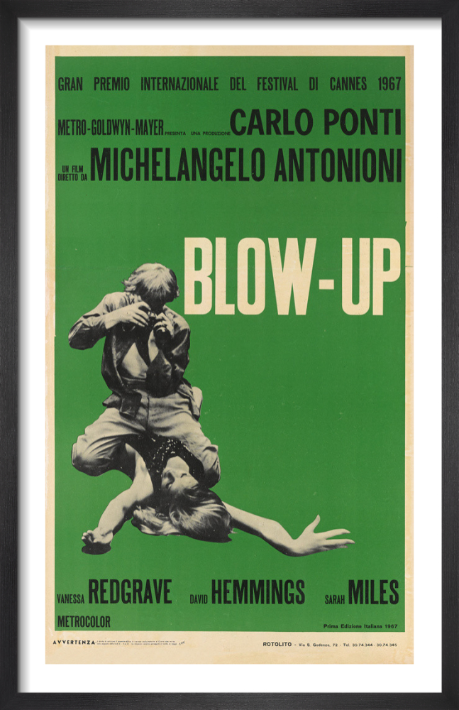 Blow Up Italian Green Art Print By Cinema Greats King Mcgaw