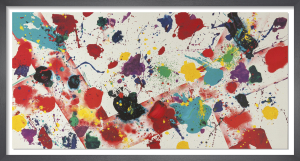 Untitled, 1982, Los Angeles by Sam Francis