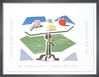 Apple, Grapes, Lemon on a Table, 1989 by David Hockney