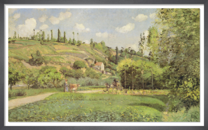 A Cowherd on the Route du Chou, Pontoise 1874 by Camille Pissarro