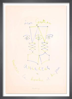 Assiettes, nourrir la bouche et les yeux, 1957 by Jean Cocteau