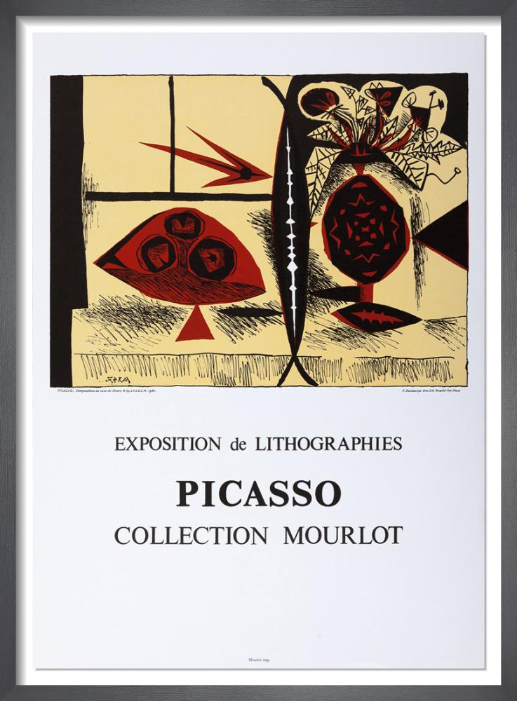 Composition au Vase de Fleurs, 1988 by Pablo Picasso