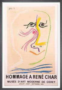 Homage à René Char, 1969 by Pablo Picasso