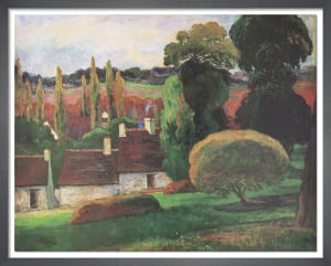 A Farm in Brittany, c.1894 by Paul Gauguin
