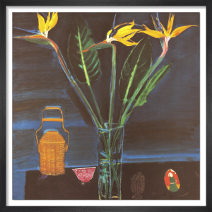 Still Life with Strelitzias by Elizabeth Blackadder