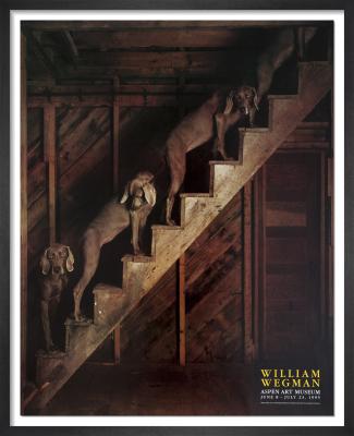 Barn Stairs, 1994 by William Wegman