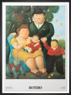 Una Famiglia, 1989 by Fernando Botero
