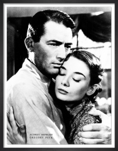 Roman Holiday - Audrey Hepburn and Gregory Peck by Anonymous