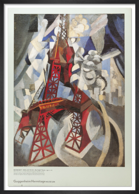 Red Eiffel Tower, 1911-12 by Robert Delaunay