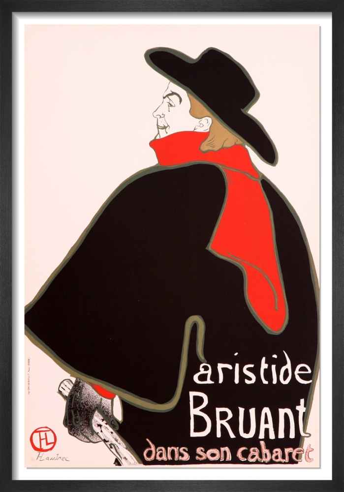 Aristide Bruant 1960 Rare Poster By Henri De Toulouse Lautrec King Mcgaw