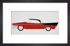 Red & Black Car by Andy Warhol