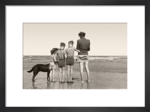 Post-war beach holiday by Anonymous