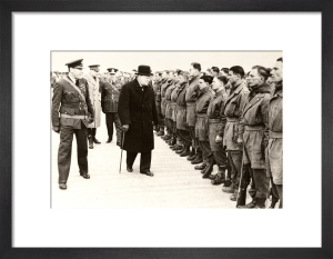 Winston Churchill inspects airborne troops, 1941 by Anonymous