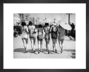 Women promenading in swimsuits, 1935 by Anonymous