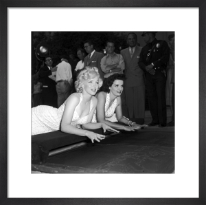 Marilyn Monroe and Jane Russell at Grauman's Chinese Theatre by Hollywood Photo Archive