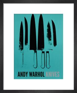 Knives, c.1981-82 (aqua) by Andy Warhol