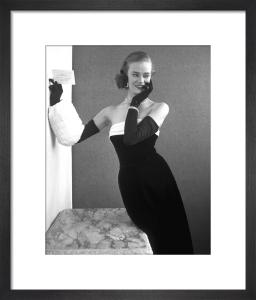 Velvet evening dress by John French
