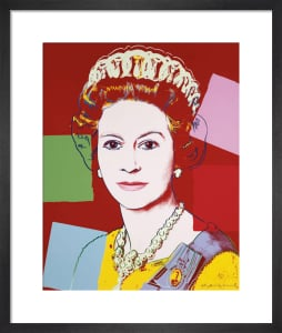 Reigning Queens: Queen Elizabeth II of the United Kingdom, 1985 (dark outline) by Andy Warhol
