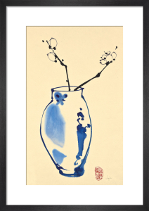 Orchids in a Blue Vase by Jane Dwight