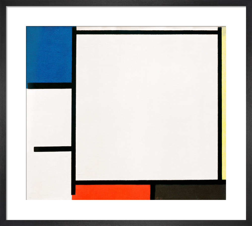 Composition with Blue, Yellow, Red, Black and Grey, 1922 by Piet Mondrian