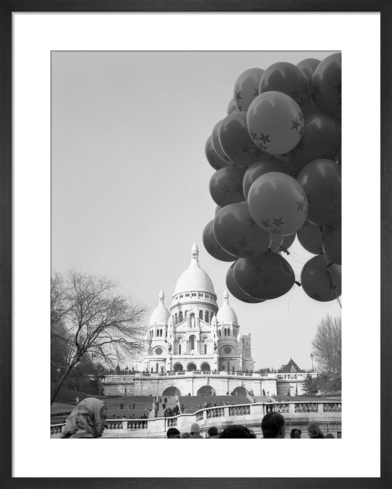 Balloons over Sacre Coeur, Paris 1963 by Alan Scales