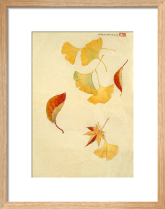 Autumnal red and yellow leaves by Anonymous