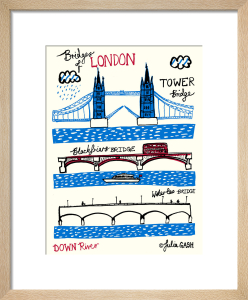 Bridges of London - Downriver by Julia Gash