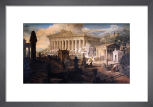 Architectural Composition : A restoration of the Temple of Ceres and other ancient buildings at Eleusis by Joseph Michael Gandy