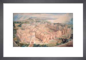 Bird's-eye view of [John Soane's design for] a Royal Palace for Green Park by Joseph Michael Gandy