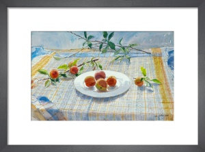 Peaches on a Plate by Lucy Willis