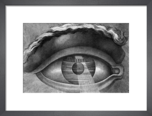 The interior of the theatre at Besancon reflected in the pupil of an eye, 1804 by Claude Nicolas Ledoux