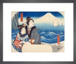 Mount Fuji at dawn by Utagawa Hiroshige I