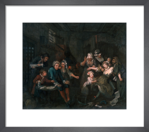A Rake's Progress VII: The Prison by William Hogarth